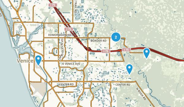 Venice, Florida Hiking Map