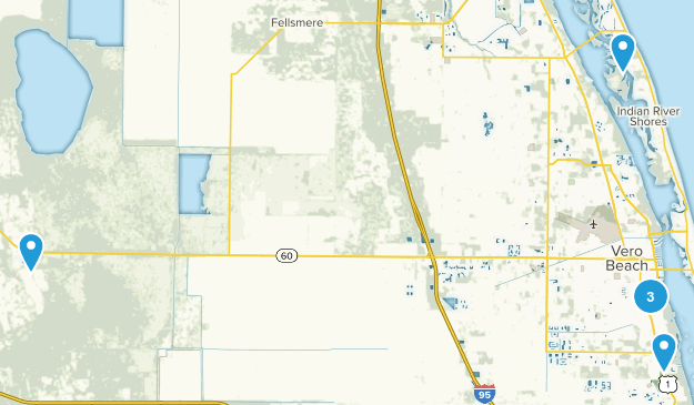 Vero Beach, Florida Hiking Map