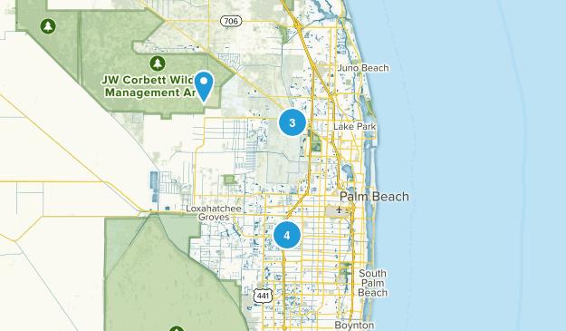 West Palm Beach, Florida Lake Map