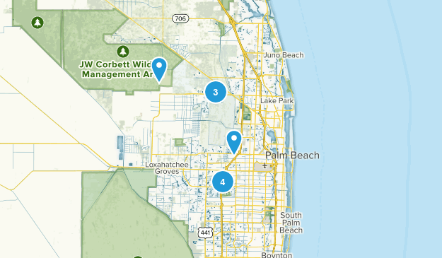 West Palm Beach, Florida Nature Trips Map