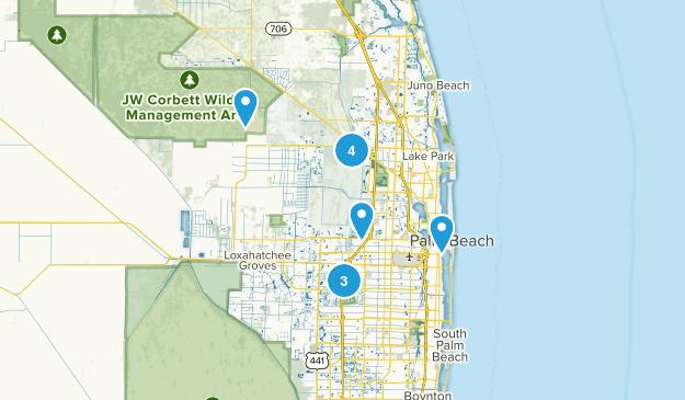 West Palm Beach, Florida Views Map