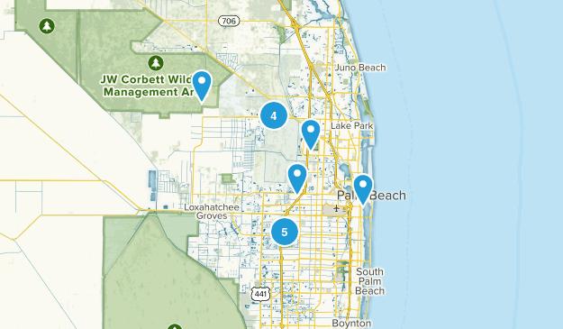 West Palm Beach, Florida Walking Map