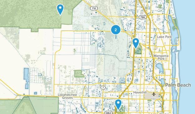 West Palm Beach, Florida Wild Flowers Map