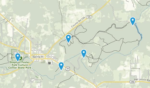 White Springs, Florida Hiking Map