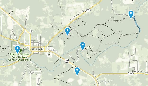 White Springs, Florida Kid Friendly Map