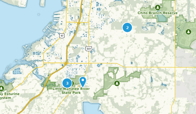Wimauma, Florida Hiking Map