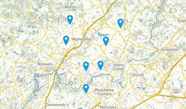 Alpharetta, Georgia Nature Trips Map