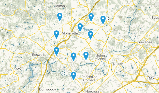 Alpharetta, Georgia Walking Map