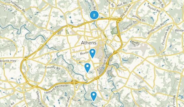Athens, Georgia Walking Map