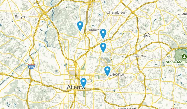 Atlanta, Georgia No Dogs Map