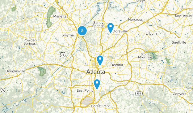 Atlanta, Georgia Mountain Biking Map