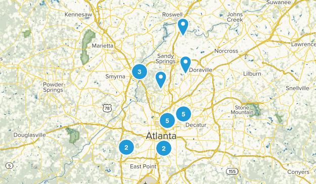 Atlanta, Georgia Trail Running Map