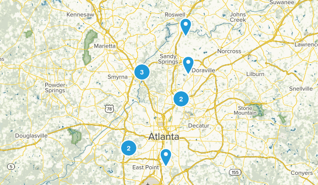 Atlanta, Georgia Wildlife Map