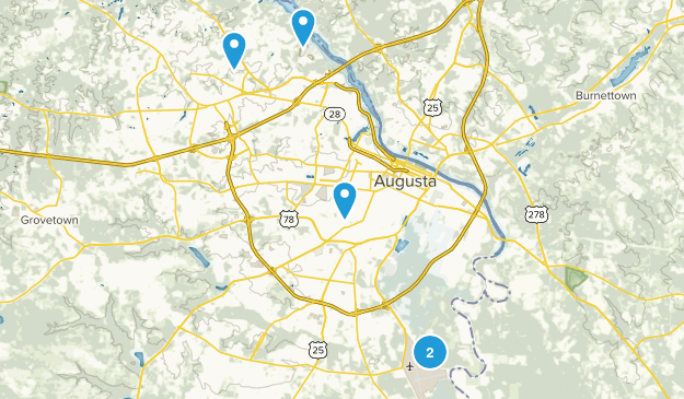 Augusta, Georgia Dogs On Leash Map