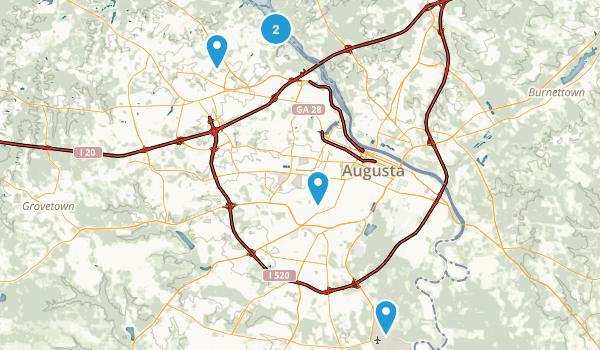 Augusta, Georgia Hiking Map