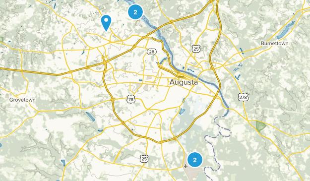 Augusta, Georgia Nature Trips Map