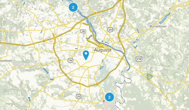 Augusta, Georgia Trail Running Map