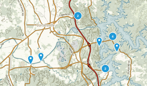 Cartersville, Georgia Walking Map