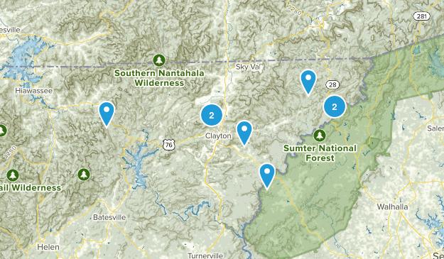 Clayton, Georgia Birding Map