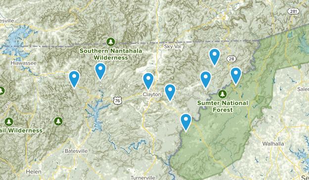 Clayton, Georgia Camping Map