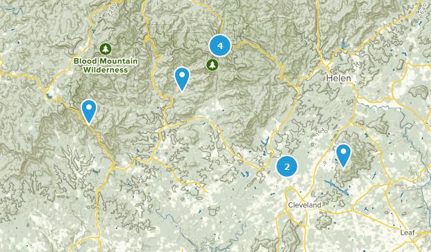 Cleveland, Georgia Hiking Map