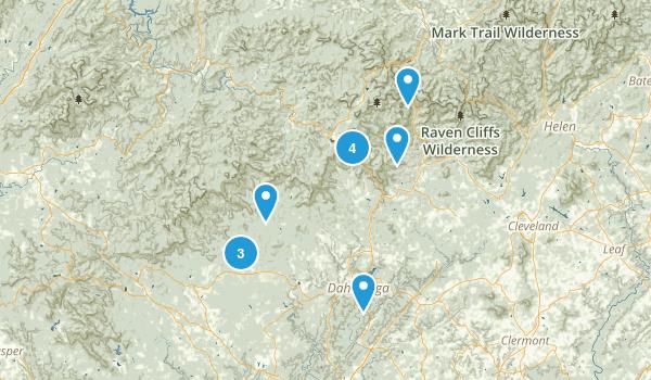 Dahlonega, Georgia Dogs On Leash Map