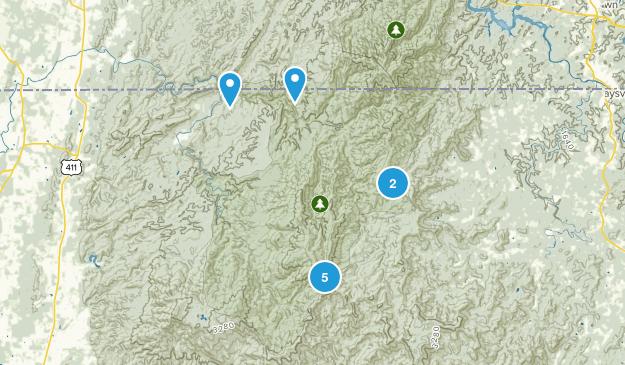 Epworth, Georgia Backpacking Map
