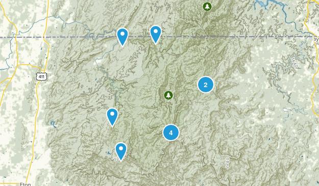 Epworth, Georgia Camping Map
