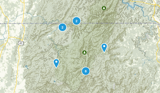 Epworth, Georgia Wild Flowers Map