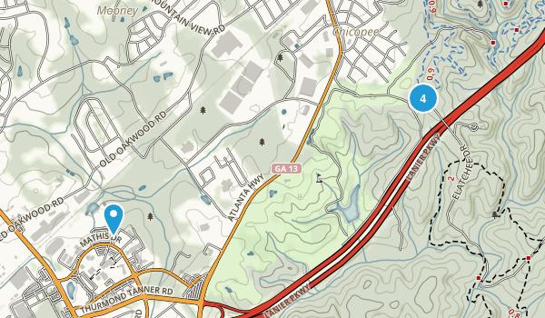 Gainesville, Georgia Mountain Biking Map