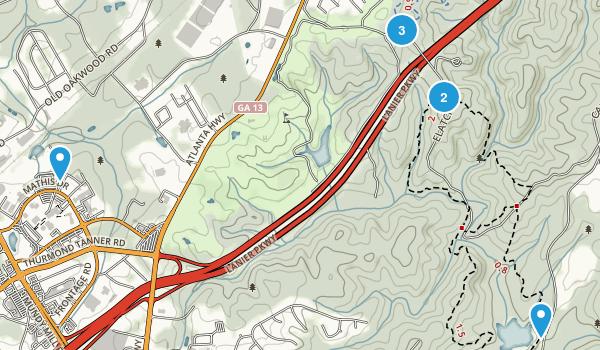 Gainesville, Georgia Walking Map
