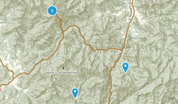 Hiawassee, Georgia Nature Trips Map