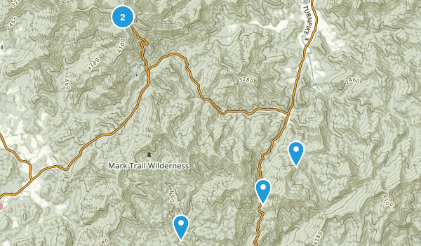 Hiawassee, Georgia Trail Running Map