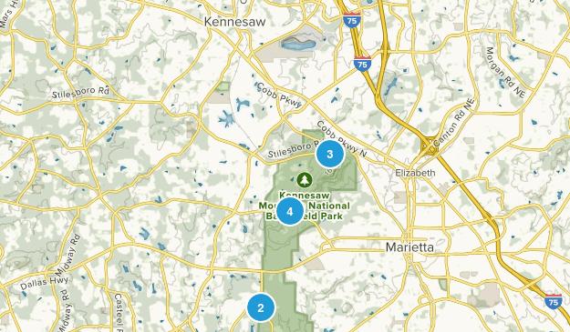 Kennesaw, Georgia Birding Map