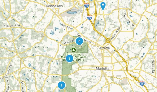 Kennesaw, Georgia Hiking Map