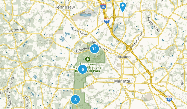 Map Of Georgia Kennesaw.Best Hiking Trails Near Kennesaw Georgia Alltrails