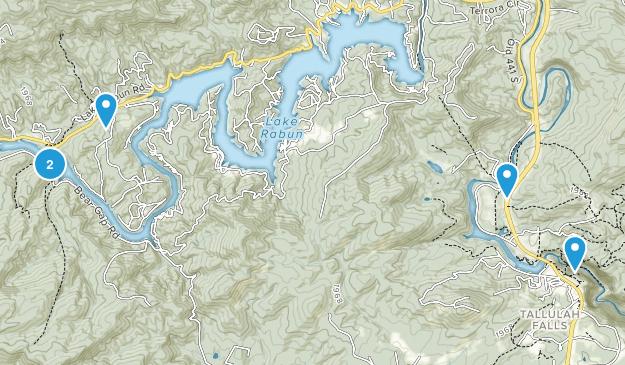 Lakemont, Georgia Walking Map