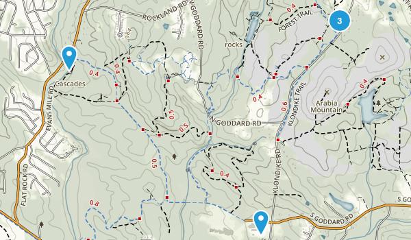 Lithonia, Georgia Hiking Map
