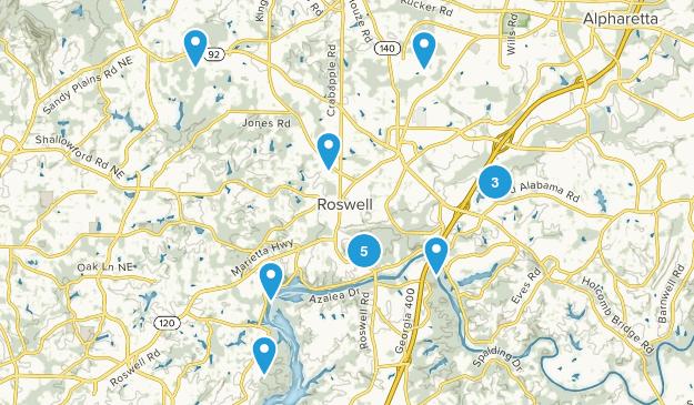 Roswell, Georgia Hiking Map