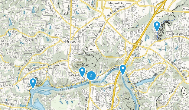 Roswell, Georgia River Map