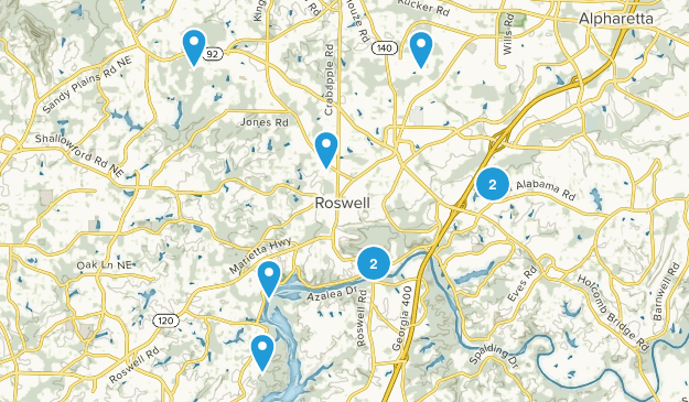 Roswell, Georgia Views Map