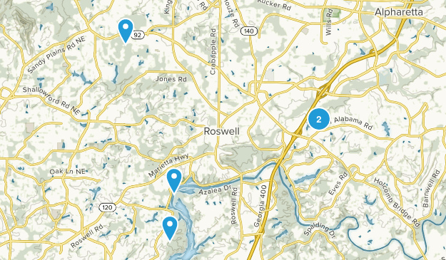 Roswell, Georgia Wild Flowers Map