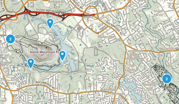 Stone Mountain Elevation Map : Best trail running trails near stone mountain georgia