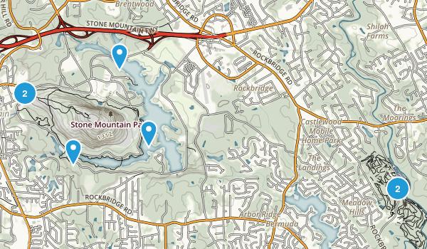 Stone Mountain, Georgia Trail Running Map