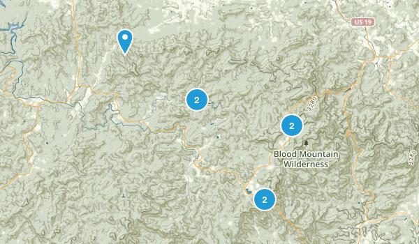 Suches, Georgia Camping Map