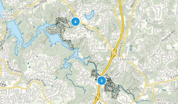Woodstock, Georgia Forest Map