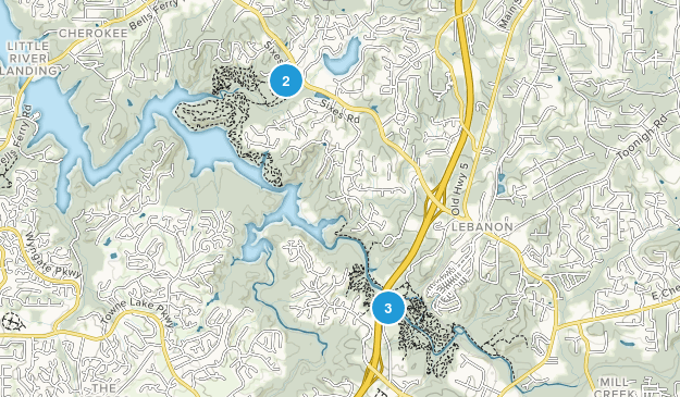 Woodstock, Georgia Hiking Map