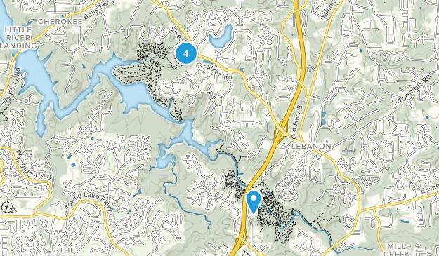 Woodstock, Georgia Nature Trips Map