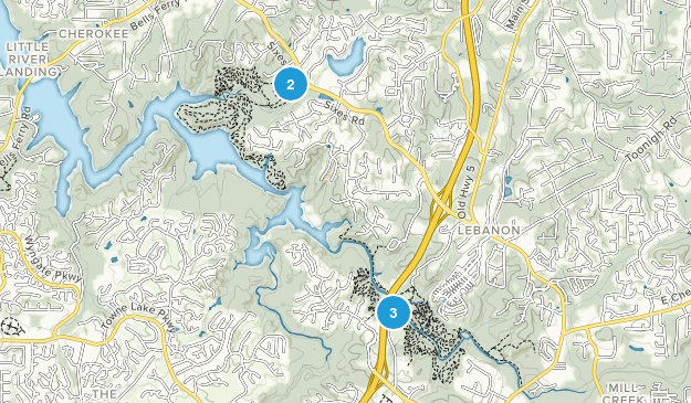 Woodstock, Georgia Trail Running Map