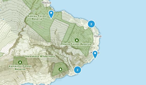 Hana, Hawaii Birding Map